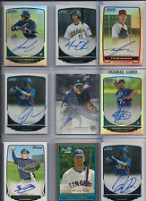 2013 Bowman Chrome Julio Morban Certified Auto RC Prospect Refractor Card #/500