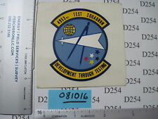 USAF Air Force 4953rd TEST Squadron Patch STICKER Development through Testing
