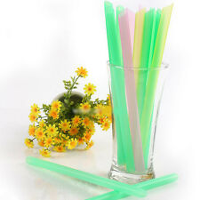 33Pcs Colorful Drinking Straws Bubble Boba Pearl Tea Drink Straw Smoothie DIY
