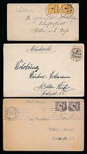 Allemagne 1923 Inflation l'affranchissement 17 nov + 24 nov + 26 nov...3 articles