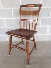 (A) L. HITCHCOCK SOLID MAPLE FARMHOUSE SIDE CHAIR HARVEST PAINT DECORATED