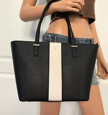 NWT KATE SPADE BLACK SAFFIANO LEATHER TOTE SHOULDER HANDBAG BAG PURSE