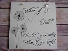 Handmade Wall Plaque Inspirational Disney Quote Gift Winnie the Pooh What if....