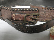 "NEW With Tags Ralph Lauren RRL Brown Leather ""Galway""  Belt Waist 30""  RRP £185"