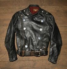 Vintage Extremely Rare! 1950s Buco J 31 Horsehide Leather Motorcycle Jacket