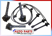 3 IGNITION COILS + USA MADE IGNITION WIRES TACOMA 3.4L 95-2004 PICKUP T100 95-98