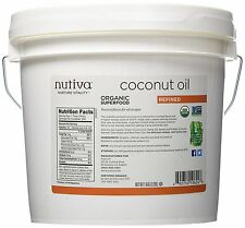 Nutiva Organic Refined Coconut Oil 1 Gallon (128 oz)
