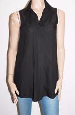 PREEN by Sculpture Museum Black Sleeveless Long Shirt Top Size M #SJ05