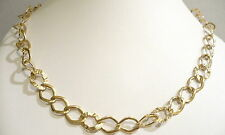 18KT SOLID YELLOW GOLD NECKLACE - CHOKER  WITH  RHOMBUS