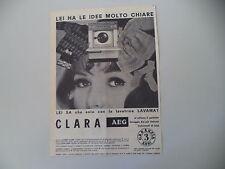 advertising Pubblicità 1966 LAVATRICE AEG LAVAMAT CLARA