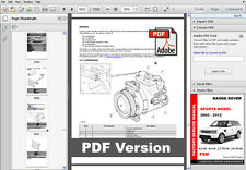 LAND ROVER RANGE ROVER SPORT 2005 - 2012 FACTORY SERVICE MANUAL + WIRING DIAGRAM
