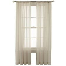 MarthaWindow Airy Rod-Pocket Sheer Panel 50x106IN Pebble Beach FREE SHIPPING A53