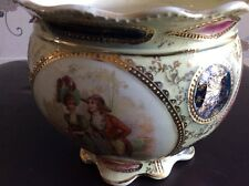 STUNNING ANTIQUE ROYAL VIENNA  CRACLE AND GLAZED PLANTER . 16cm x 19cm