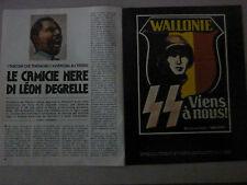 ARTICOLO  LE CAMICIE NERE DI LEON DEGRELLE -- 1976