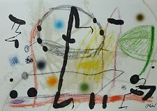 Joan Miro Maravillas acrosticas 13 signed limited to 1500 LITHOGRAPH 1975