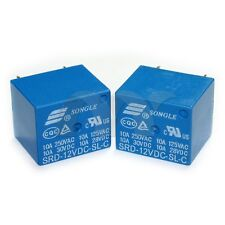 10 Pcs 12V DC SONGLE Power Relay SRD-12VDC-SL-C PCB Type