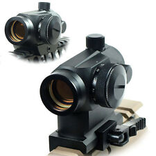 Quick Release QR Tactical Reflex Red Green Dot Sight Scope w/ Dual Rail Mounts