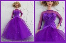 Barbie Fashion Lot Sparkling Purple Passion Gown & Matching Heels by Mattel