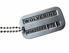 Marrywindix Male Cool Kpop Xmen Wolverine 2 Necklace Vintage Weaponx Dog Tags..