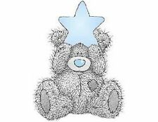 Bear Blue Star 48 Large Sticky White Paper Stickers Labels NEW