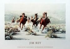 """Horse and Cowboy Poster By Jim Rey Horse  Image 23.5"""" x 13.5"""""""