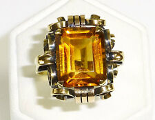 Ring 585 Gold 585er Citrin Damenring ART DECO Amtspunze Wien 1925
