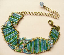 VIRGIN VIE COPA CABANNA BRACELET - BEAUTIFUL BLUE & GREEN BEADS - BRAND NEW