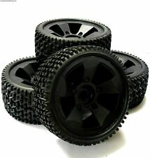 BS502-001 1/8 1/5 Scala Monster Truck Ruote e Pneumatici 4 NERO PLASTICA 17MM Hex