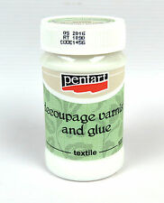 Pentart Decoupage varnish and glue for textile 100ml craft sealer