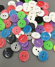 DIY 100 stripe Resin Buttons Mixed color Fit Sewing Scrapbooking Crafts 13mm DIY