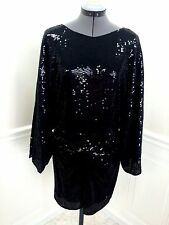 NWT  PARKER Sexy Sequin Cocktail Dress with Deep V-back size S  NEW