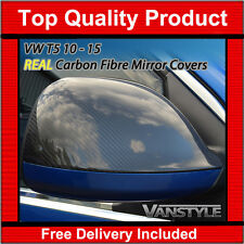 VW TRANSPORTER T5 REAL CARBON FIBRE MIRROR COVERS 10-15 CARAVELLE NOT CHROME