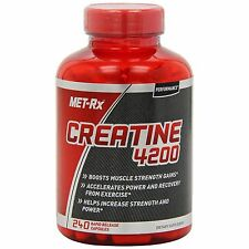 Creatine Pills Capsules Best Energy Booster Supplements Monohydrate Met-Rx 4200