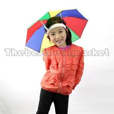 Hands Free Umbrella Foldable MultiColor Sun Outdoor Shade Hat Golf USA Seller