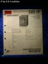 Sony Service Manual SMS 1P Powered Monitor Speaker System (#2304)