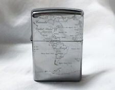 Zippo World Map Titanium Corting / Rare Model from JAPAN !