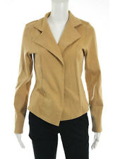 NWT NECCESSITEES Camel Brown Long Sleeve Collared Riding Jacket Sz M $80