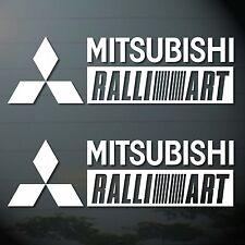 "9.5""X2P MITSUBISHI RALLI ART RACING STICKER DIE CUT-OUT AUTO MOTOR SPORTS CAR"