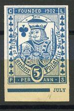 ERINNOPHILIE TIMBRE / VIGNETTE / BRITISH / ROYAUME UNI / LONDON 1902