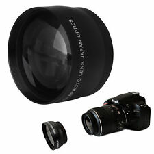 52mm 2x Coated Telephoto Lens for Nikon AF-S DX Nikkor 18-55mm AF-S 55-200mm New