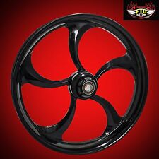 "Harley Davidson 21"" inch Custom Front Wheel ""Merlin"" Blackout Series FTD Customs"