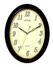 Grassetto Marrone Numeri Arabi Cassa Ovale Orologio da parete al quarzo da amms gd43035