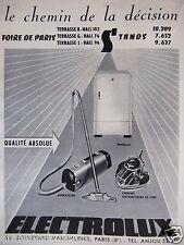 PUBLICITÉ 1955 ELECTROLUX FRIGELUX CIREUSE ASPIRATEURS - ADVERTISING