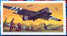 Brooke Bond History of Aviation tea card 30. Airspeed AS.51 Horsa Glider. D-Day