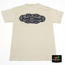 DRAKE WATERFOWL STRAIGHT SHOOTERS LOGO TEE T-SHIRT SHORT SLEEVE SS SAND LARGE
