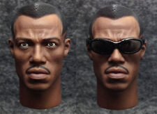 1/6 scale Custom Head Sculpt Blade the Vampire Slayer Wesley Snipes with glasses
