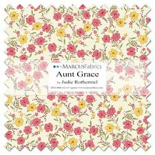 """42-10"""" SQUARES~AUNT GRACE~MARCUS 30S REPRODUCTIONS~""""LAYER CAKE""""~JUDIE ROTHERMEL"""