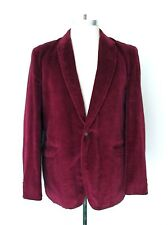 VGC Vtg 70s Burgundy Plum Velvet Disco Pimp Tuxedo Blazer Smoking Hef Jacket 40