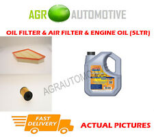 DIESEL OIL AIR FILTER KIT + LL 5W30 OIL FOR BMW 116D 2.0 116 BHP 2009-12