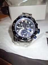 MEN'S INVICTA PRO DRIVER SILVER/BLUE WATCH * 80044 * 200 M WATER RESISTANT *48MM